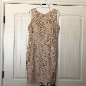 Lace dress champagne color from Dillard's